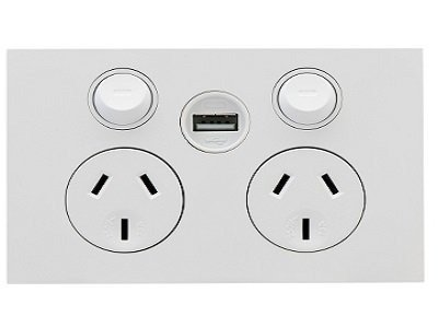 power and usb point